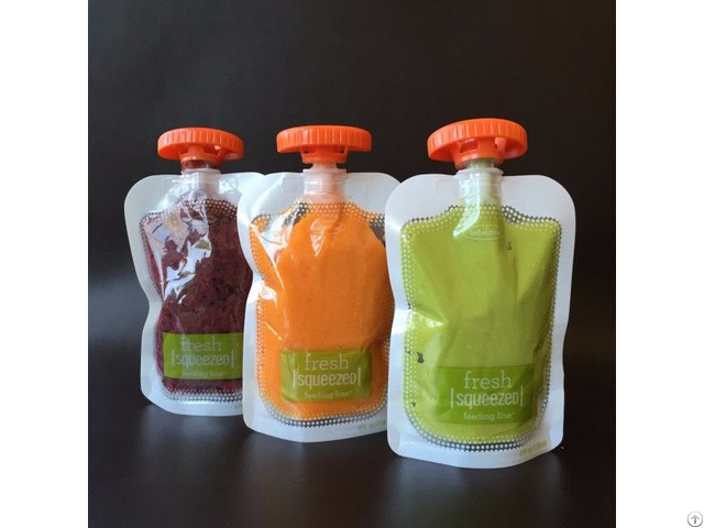 Liquid Stand Up Pouch With Spout Packaging