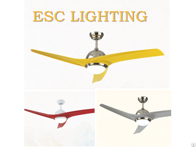 Simple Style Industrial Home Ceiling Fan With Led Light Remote