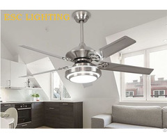 Air Conditioning Stainless Stell Ceiling Fan With Led Light