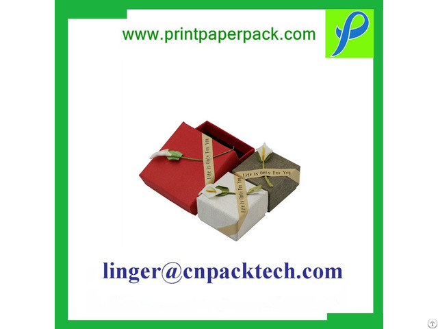 Customized Coated Paper Packaging Storage Gift Box Flat Shipment