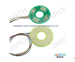 High Speed 360 Rotating Electric Pcb Pancake Slip Ring Ultra Thin 6mm Pancace Slipring 12 Circuits
