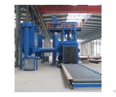 Q69 Steel Plate Roller Conveyor Shot Blasting Machine