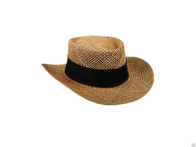 Paper Straw Cowboy Hat For Men