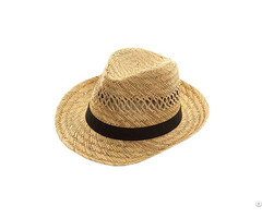 Natural Mat Grass Color Straw Hat