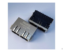 Ykgd 801219bnl 7499121211 2 Port Through Hole Gigabit Rj45 With Lan Transformer