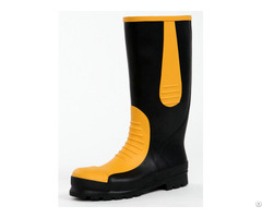 Rubber Safety Boots Handmade Protective Toe Cap Perforation Resistant Anti Static