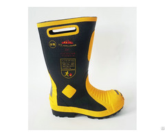 Fireman Safety Boot Handmade Protective Toe Cap Perforation Resistant
