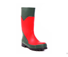 Insulating Safety Boots Handmade Of Natural Rubber Protective Toe Cap