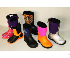 Kids Rubber Boots Handmade 100% Water Poof