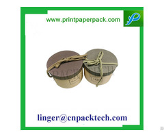 Custom Cylindrical Wine Paper Box Food Packaging