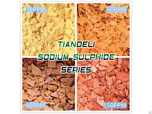 Sodium Sulfide Yellow Red Flakes 60%min 30ppm And 150ppm