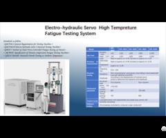 Electro Hydraulic Servo High Tempreture Fatigue Testing System