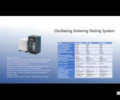 Oscillating Sintering Testing System