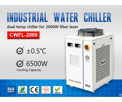 Refrigeration Compressor Water Chiller For 2kw Fiber Laser Metal Cutting Machine
