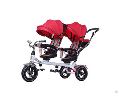 China Flybaby Twin Tricycle With Two Seats