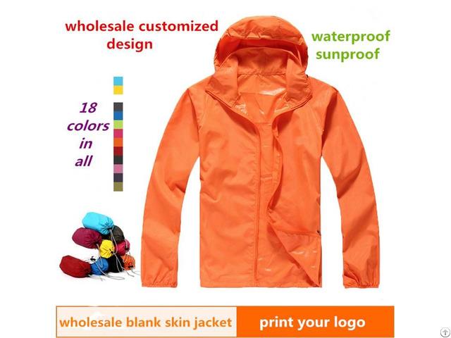 Unisex Lightweight Anti Uv Nylon Outdoor Men S Windbreaker Skin Jacket