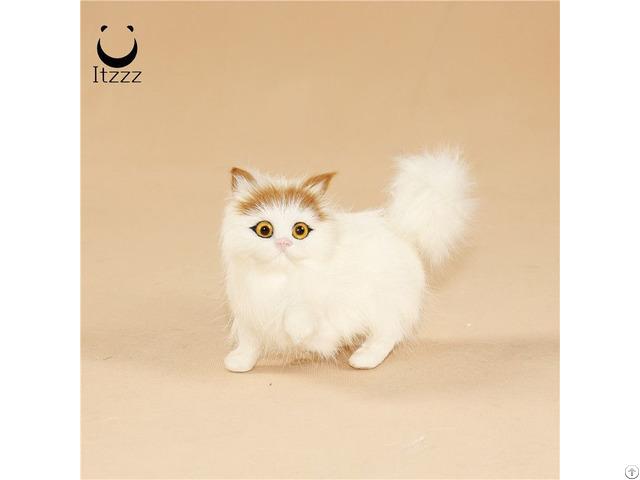 Simulation Cat Toy Animals Plastic Animal Birthday Gift For Kids