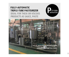 3tph Triple Tube Heat Exchanger Tubular Sterilizer Sauce Paste Pasteurizer