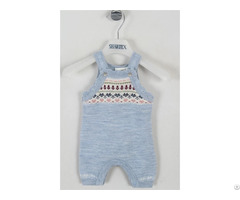 100%wool Jacquard Baby Jumpsuit