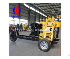 Xyx 130 Wheeled Hydraulic Core Drilling Rig Convenient Relocation Of The Whole Machine