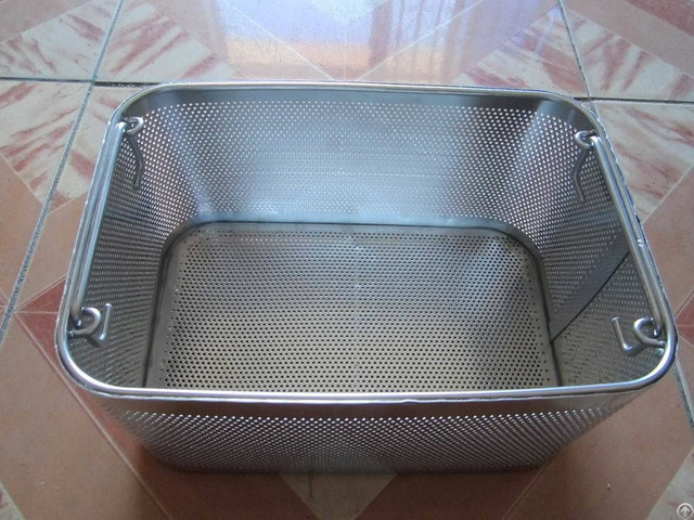Stainless Steel Perforated Mesh Basket