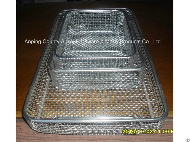 Stainless Steel Plain Wire Mesh Tray