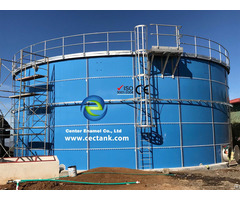 Glass Fused To Steel Tanks For Livestock And Poultry Manure Storage In Biogas Project