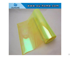 Bt211 Transparent Fluorescent Yellow Rainbow Film