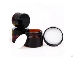 Amber Glass Face Cream Jar