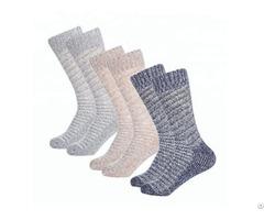 Wholesale Cable 100% Cashmere Socks Unisex Women