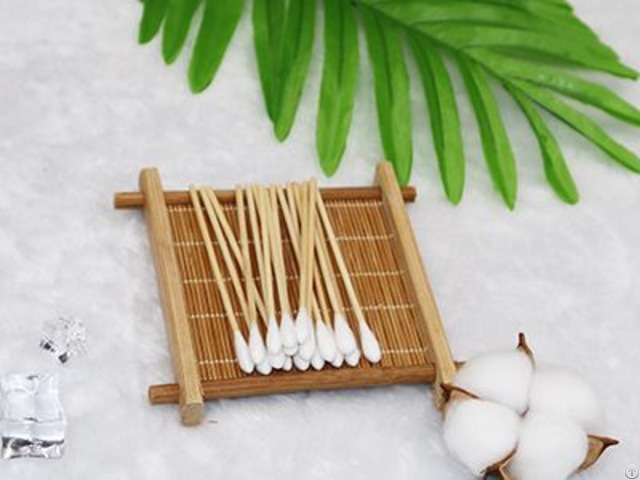 "3"" Bamboo Medical Body Care Wipe Cotton Tip Swab"
