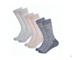 Wholesale Cable 100% Cashmere Socks Unisex Women