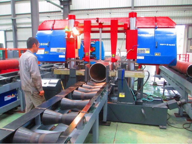 Pipe Prefabrication Automatic Band Saw Cutting