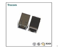 Trj6014b66nl Tab Up 10 100base T Rj45 Connector With Magnetic