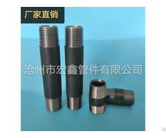En10241 Black Galvanized Steel Pipe Nipples And Socket