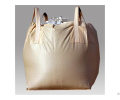 Fibc Food Grade Tubular 1ton Bag Beige Pp 100% Virgin