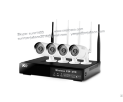 960p & 720p Wifi Nvr Kit App For Remote Monitoring 4ch & 8ch Wireless Cam