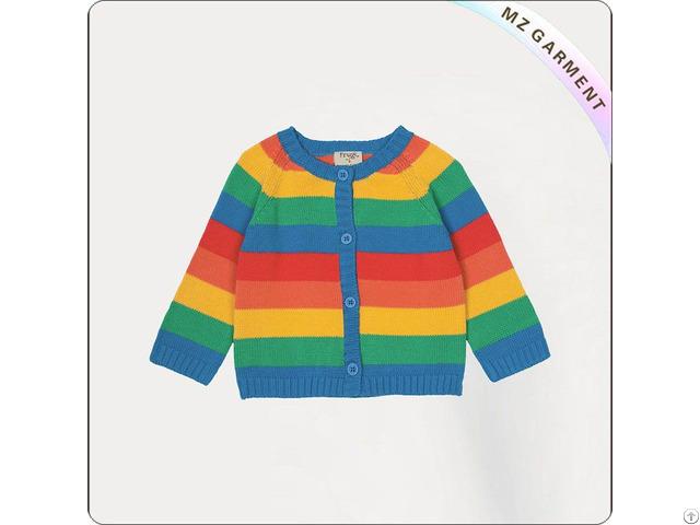 Girls Rainbow Cardigan