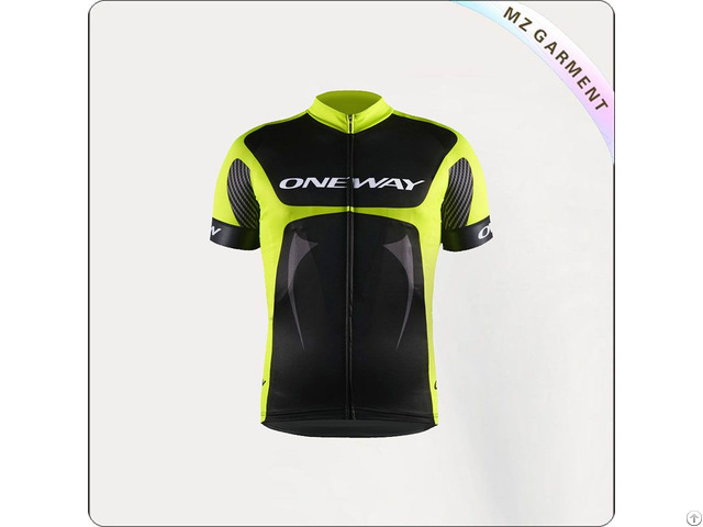 Black And Yellow Short Sleeve Cycling Wear