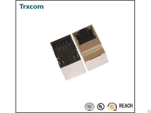 Trjd0720benl Vertical Rj45 Connector With 1000 Magnetic