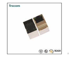 Trjd0011bgnl Vertical Side Entry Rj45 Connector