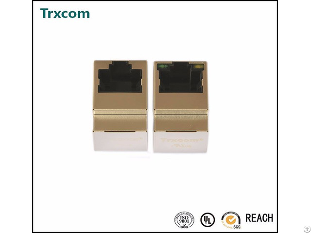Trjd5011benl Vertical Rj45 Connector With 10 100 Base Tx Integrated Magnetics
