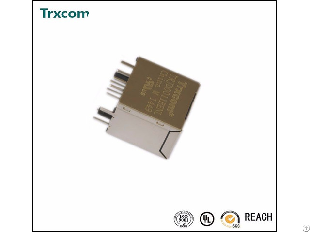 Trjd0012bgnl With Led Vertical Rj45 Connector