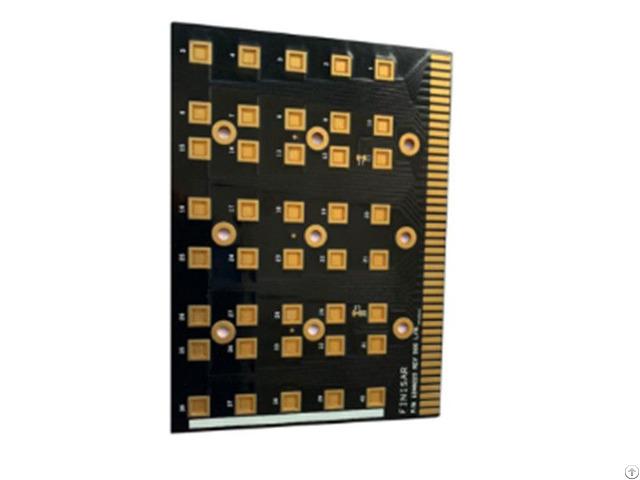 Single Copper Substrate Pcb Black Gold Fingers Manufacturer