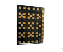 Single Copper Substrate Pcb Black Gold Fingers Manufacturer