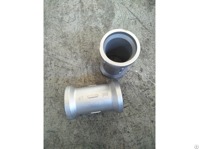 Lost Wax Casting Pipe Fitting With Machining