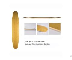 Bamboo Hot Selling High Quality Glassfiber Longboard Deck Dancing Skateboard Wholesale