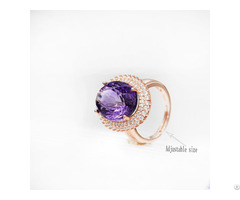Sterling Silver Amethyst Ring Customized Jewelry Manufacturer