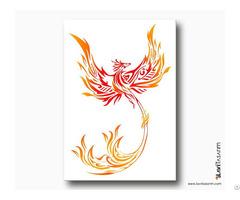 Kırmızı Anka Kuşu Kanvas Tablo