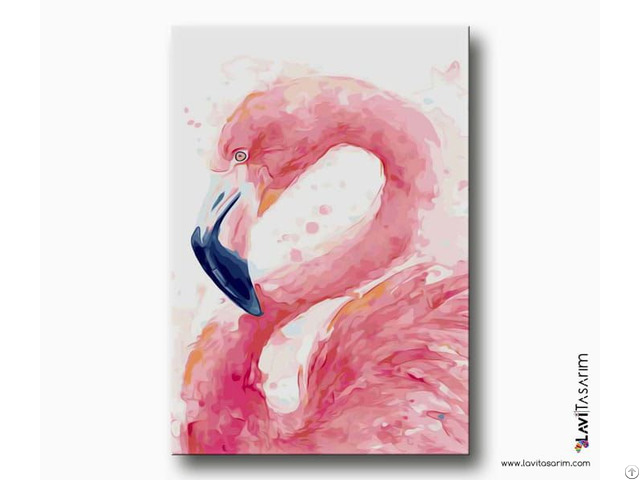 Tropikal Kuş Sanatsal Kanvas Tablo